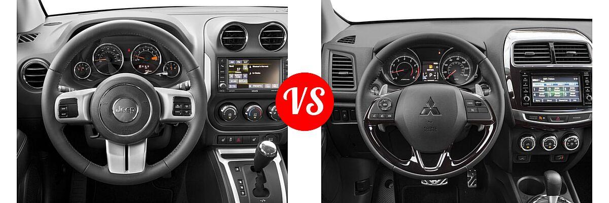 2016 Jeep Compass SUV High Altitude Edition vs. 2016 Mitsubishi Outlander Sport SUV 2.4 SEL - Dashboard Comparison