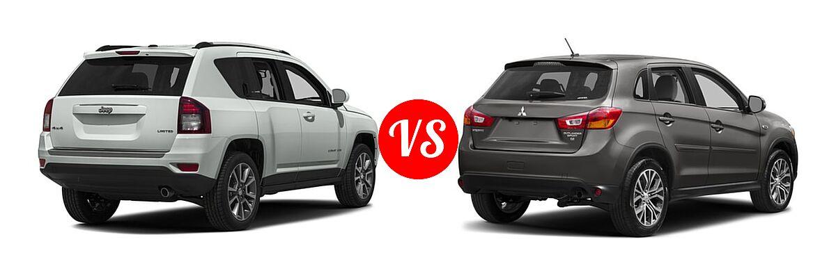 2016 Jeep Compass SUV 75th Anniversary / Latitude / Sport / Sport SE Pkg vs. 2016 Mitsubishi Outlander Sport SUV 2.0 ES / 2.4 ES / 2.4 SE - Rear Right Comparison