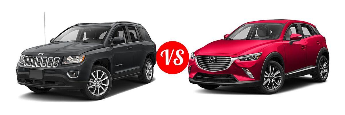2016 Jeep Compass SUV High Altitude Edition vs. 2016 Mazda CX-3 SUV Grand Touring - Front Left Comparison
