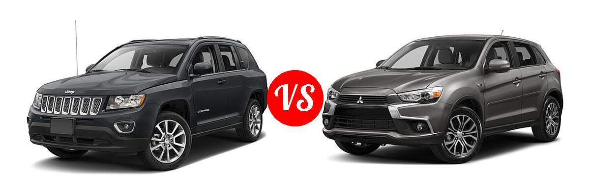2016 Jeep Compass SUV High Altitude Edition vs. 2016 Mitsubishi Outlander Sport SUV 2.0 ES / 2.4 ES / 2.4 SE - Front Left Comparison