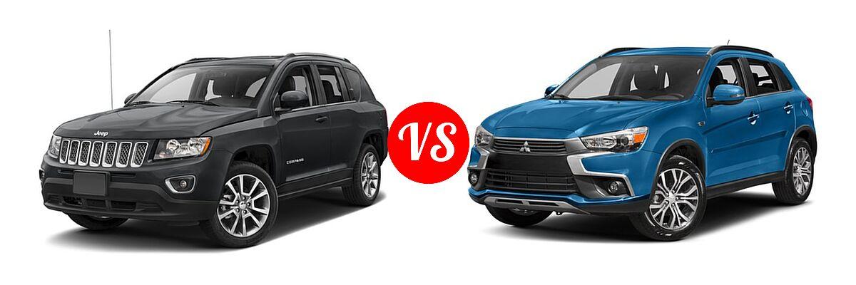 2016 Jeep Compass SUV High Altitude Edition vs. 2016 Mitsubishi Outlander Sport SUV 2.4 SEL - Front Left Comparison