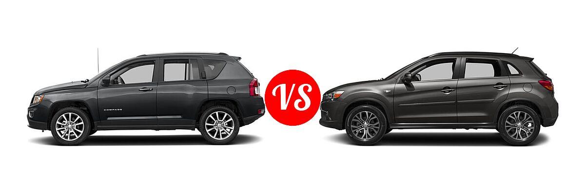 2016 Jeep Compass SUV High Altitude Edition vs. 2016 Mitsubishi Outlander Sport SUV 2.4 GT - Side Comparison