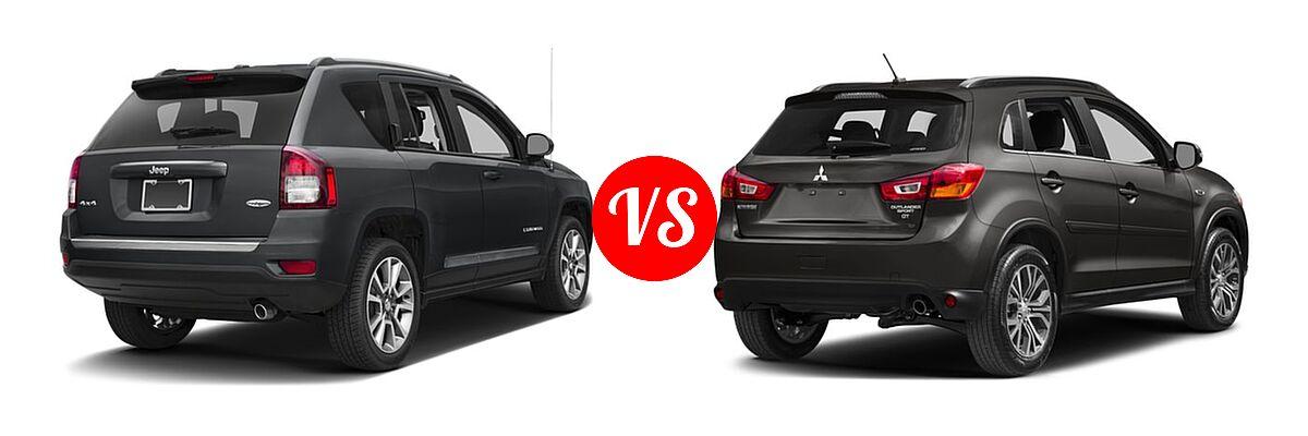 2016 Jeep Compass SUV High Altitude Edition vs. 2016 Mitsubishi Outlander Sport SUV 2.4 GT - Rear Right Comparison