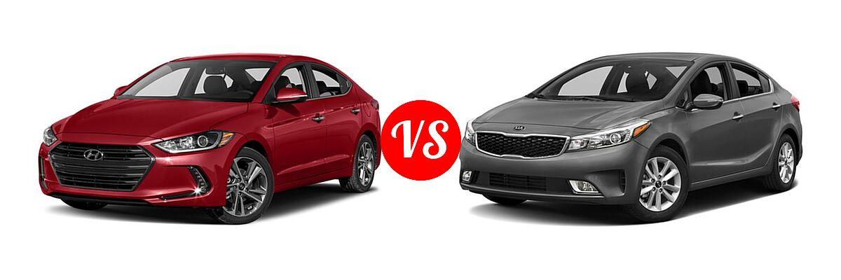 2018 Hyundai Elantra vs. 2018 Kia Forte Sedan   Vehie.com