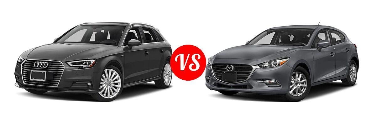 2018 Audi A3 Sportback e-tron vs. 2018 Mazda 3 Hatchback ...