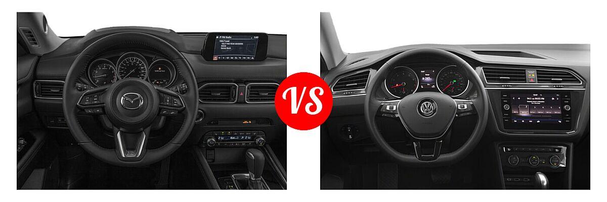 2020 Mazda CX-5 SUV Signature vs. 2020 Volkswagen Tiguan SUV S / SE / SEL - Dashboard Comparison