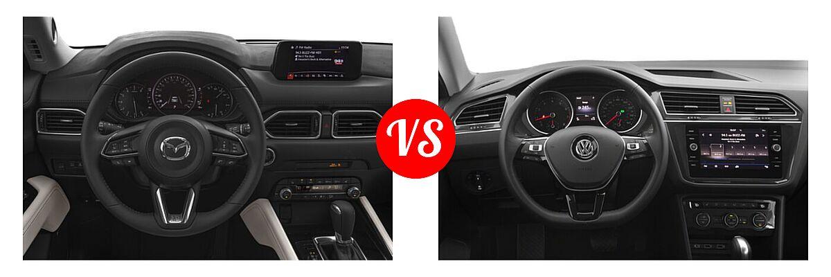 2020 Mazda CX-5 SUV Grand Touring vs. 2020 Volkswagen Tiguan SUV SE R-Line Black / SEL Premium R-Line - Dashboard Comparison