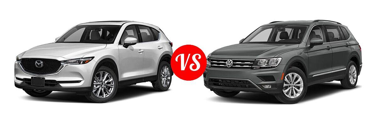 2020 Mazda CX-5 SUV Grand Touring vs. 2020 Volkswagen Tiguan SUV SE R-Line Black / SEL Premium R-Line - Front Left Comparison