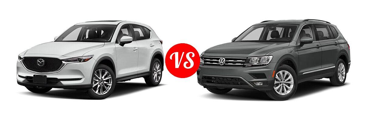 2020 Mazda CX-5 SUV Grand Touring Reserve vs. 2020 Volkswagen Tiguan SUV S / SE / SEL - Front Left Comparison