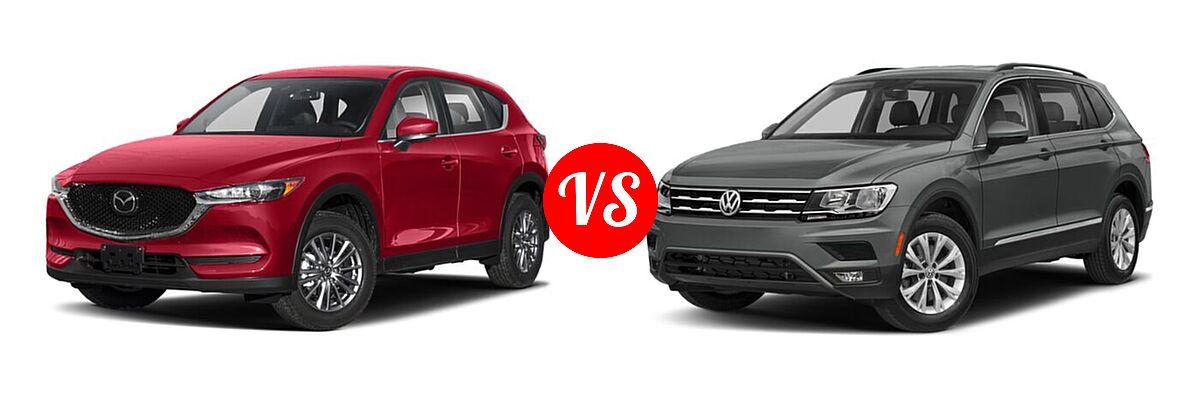 2020 Mazda CX-5 SUV Signature vs. 2020 Volkswagen Tiguan SUV S / SE / SEL - Front Left Comparison