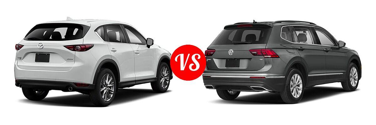 2020 Mazda CX-5 SUV Grand Touring Reserve vs. 2020 Volkswagen Tiguan SUV S / SE / SEL - Rear Right Comparison