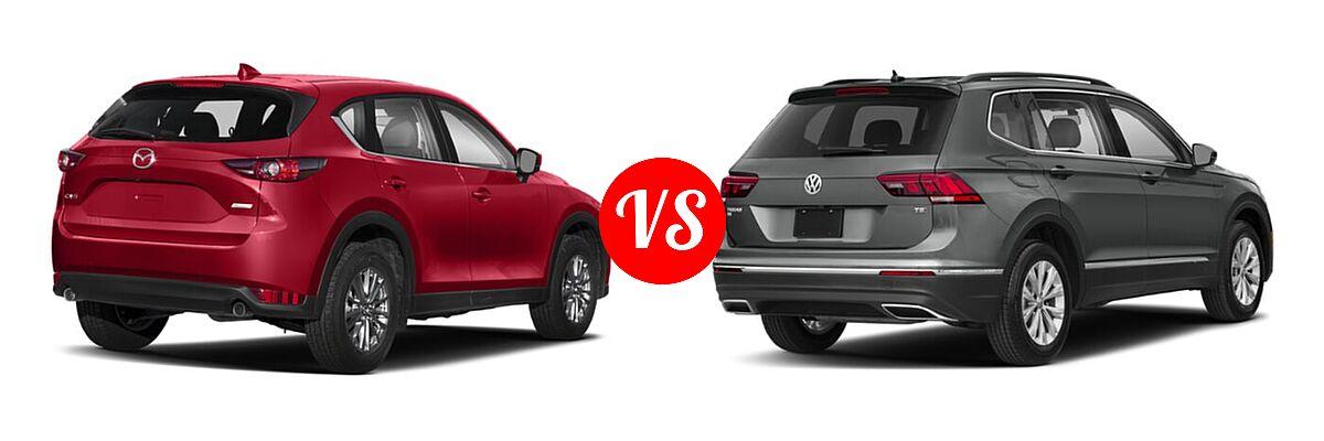 2020 Mazda CX-5 SUV Signature vs. 2020 Volkswagen Tiguan SUV SE R-Line Black / SEL Premium R-Line - Rear Right Comparison