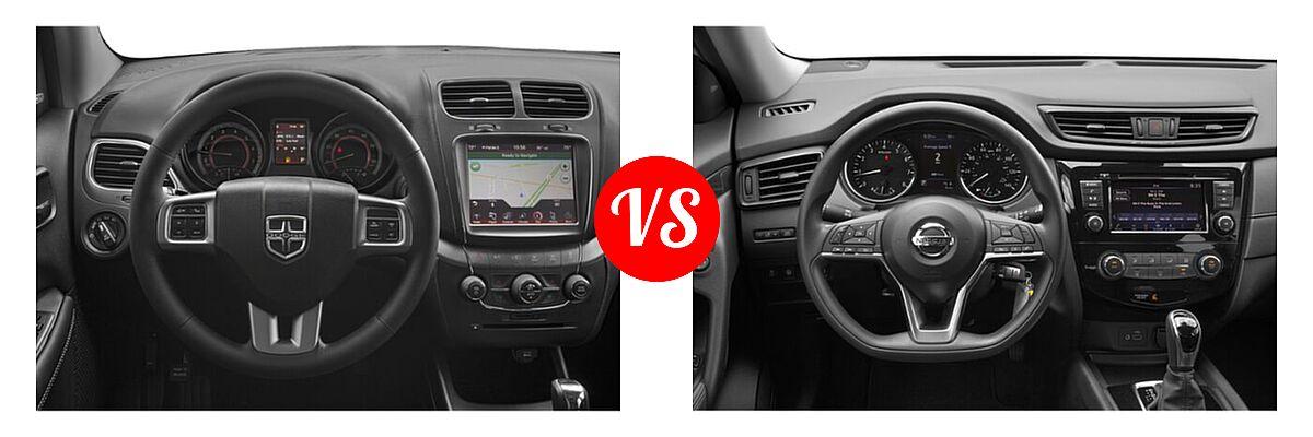 2020 Dodge Journey SUV Crossroad vs. 2020 Nissan Rogue SUV S / SV - Dashboard Comparison
