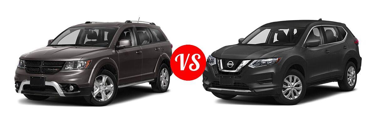 2020 Dodge Journey SUV Crossroad vs. 2020 Nissan Rogue SUV S / SV - Front Left Comparison