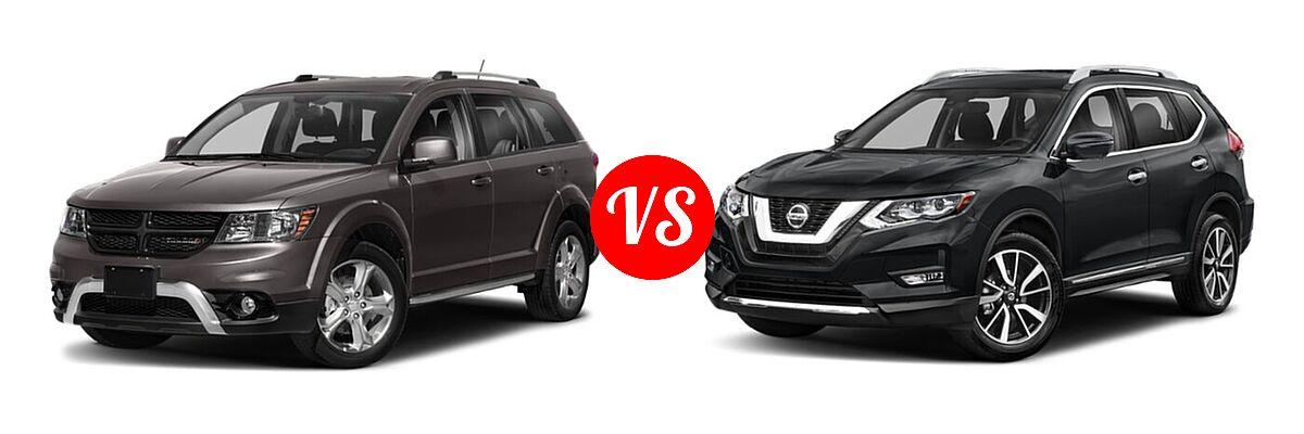 2020 Dodge Journey SUV Crossroad vs. 2020 Nissan Rogue SUV SL - Front Left Comparison
