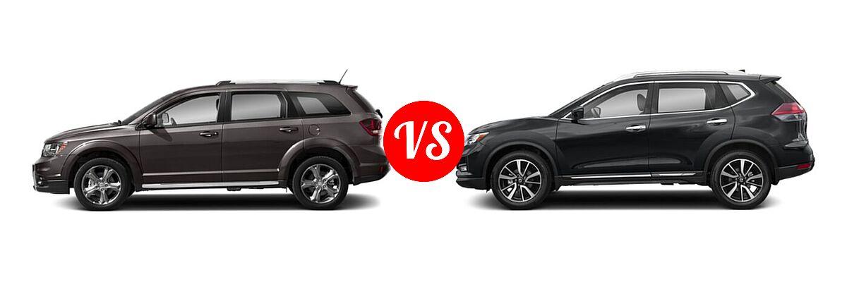 2020 Dodge Journey SUV Crossroad vs. 2020 Nissan Rogue SUV SL - Side Comparison