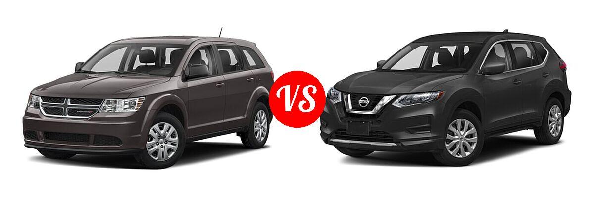 2020 Dodge Journey SUV SE Value vs. 2020 Nissan Rogue SUV S / SV - Front Left Comparison