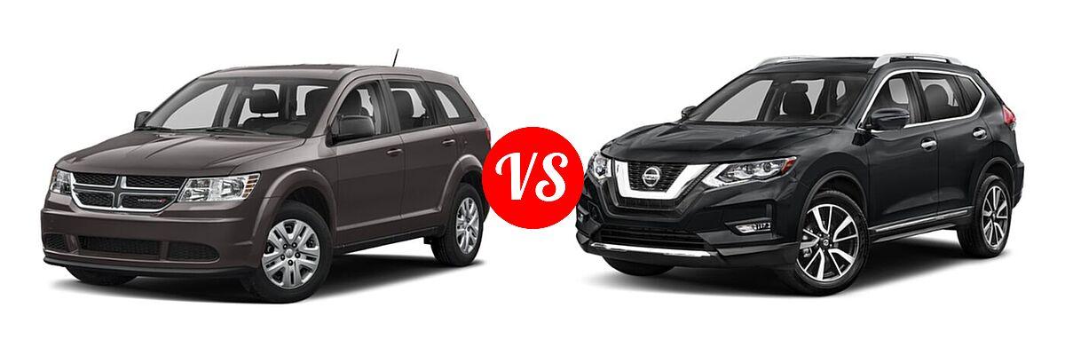 2020 Dodge Journey SUV SE Value vs. 2020 Nissan Rogue SUV SL - Front Left Comparison
