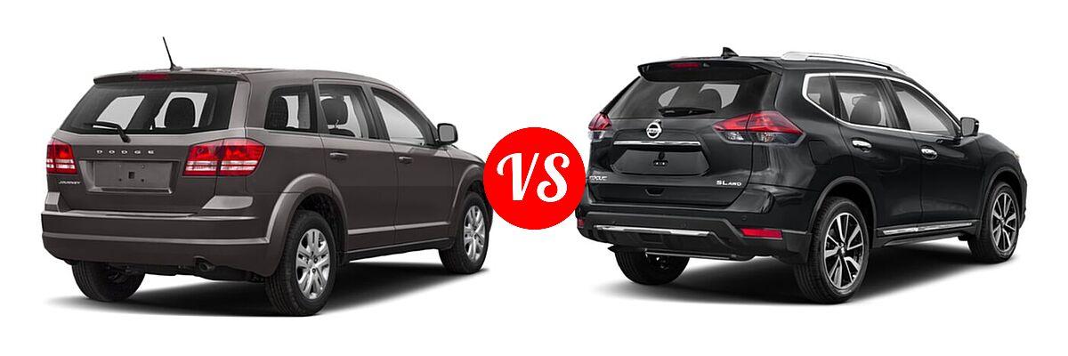 2020 Dodge Journey SUV SE Value vs. 2020 Nissan Rogue SUV SL - Rear Right Comparison