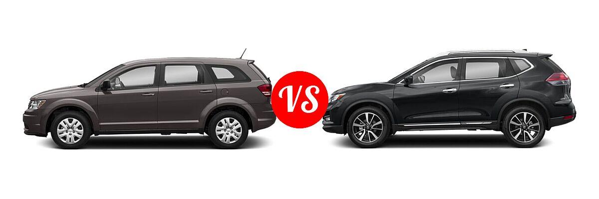 2020 Dodge Journey SUV SE Value vs. 2020 Nissan Rogue SUV SL - Side Comparison