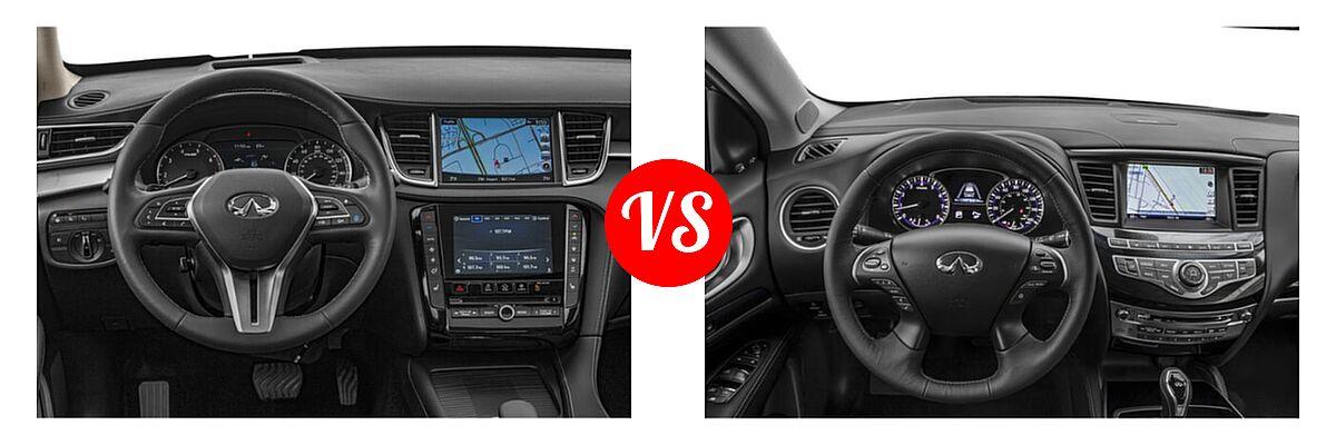 2019 Infiniti QX50 SUV ESSENTIAL / LUXE / PURE vs. 2019 Infiniti QX60 SUV LUXE / PURE - Dashboard Comparison