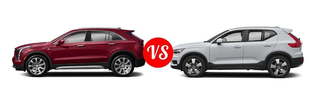 2020 Cadillac XT4 SUV AWD Luxury / AWD Premium Luxury / AWD Sport / FWD Luxury / FWD Premium Luxury / FWD Sport vs. 2019 Volvo XC40 SUV Momentum / R-Design - Side Comparison