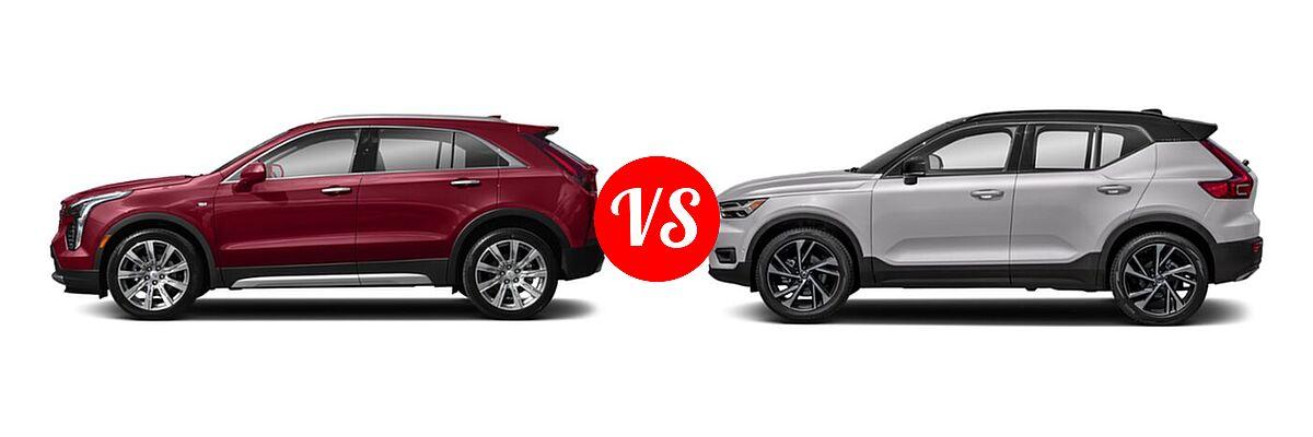 2020 Cadillac XT4 SUV AWD Luxury / AWD Premium Luxury / AWD Sport / FWD Luxury / FWD Premium Luxury / FWD Sport vs. 2019 Volvo XC40 SUV R-Design - Side Comparison