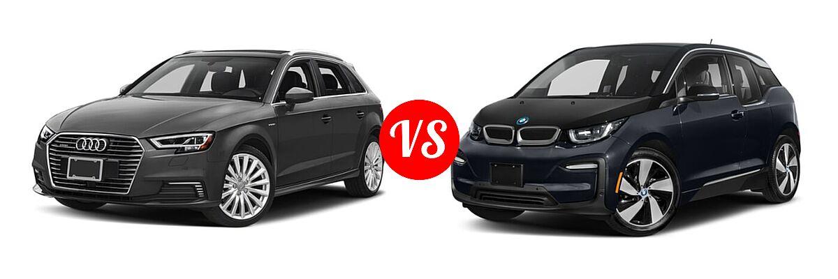 2018 Audi A3 Sportback e-tron Hatchback Premium / Premium Plus / Prestige vs. 2020 BMW i3 Hatchback PHEV 120 Ah / 120 Ah w/Range Extender / s - Front Left Comparison