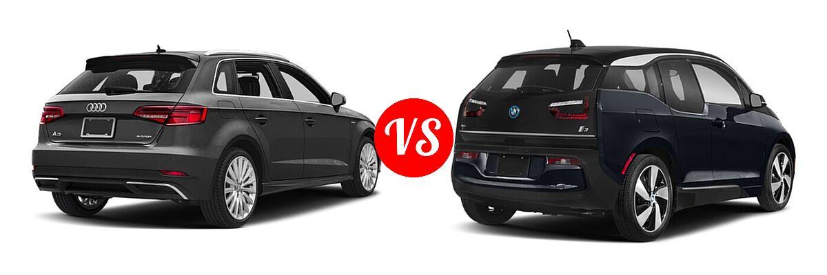 2018 Audi A3 Sportback e-tron Hatchback Premium / Premium Plus / Prestige vs. 2020 BMW i3 Hatchback PHEV 120 Ah / 120 Ah w/Range Extender / s - Rear Right Comparison