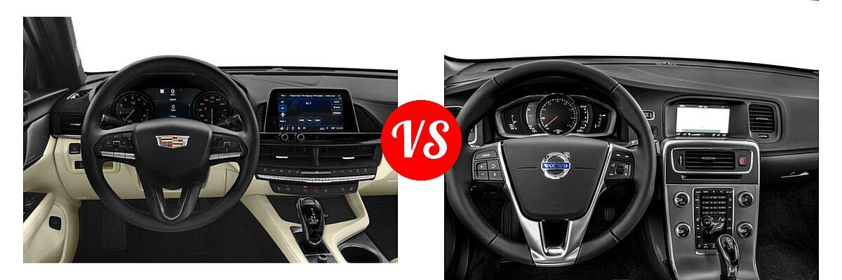 2021 Cadillac CT4 Sedan Luxury / Premium Luxury / Sport / V-Series vs. 2018 Volvo S60 Sedan Dynamic - Dashboard Comparison