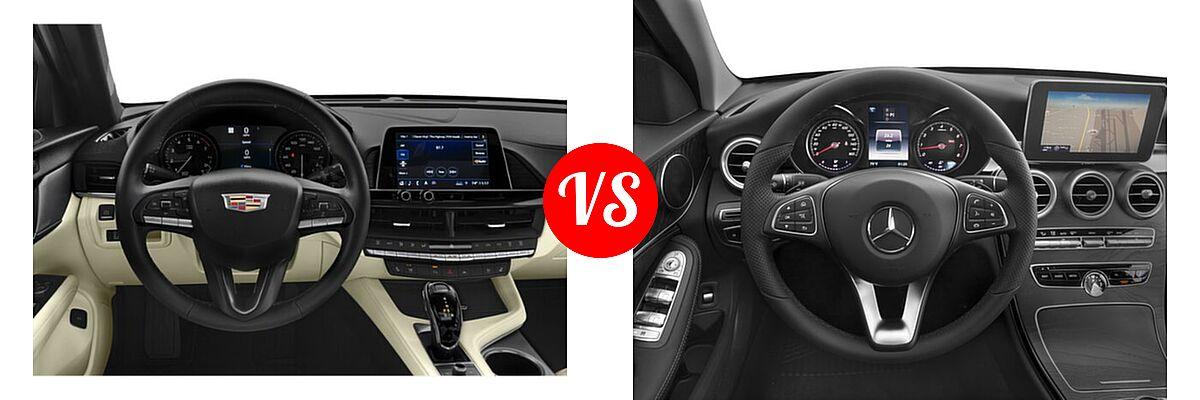 2021 Cadillac CT4 Sedan Luxury / Premium Luxury / Sport / V-Series vs. 2018 Mercedes-Benz C-Class Sedan C 300 - Dashboard Comparison