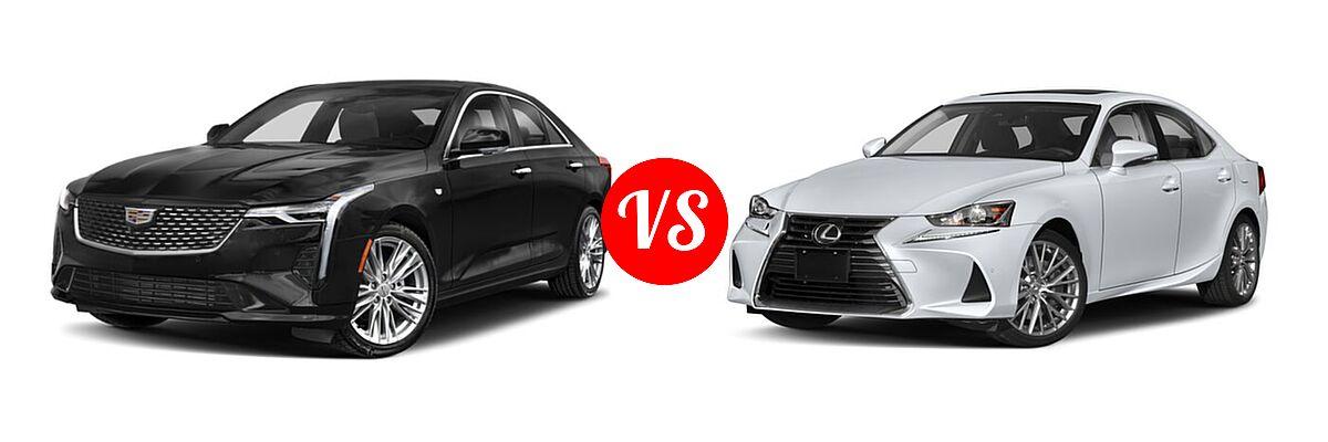 2021 Cadillac CT4 Sedan Luxury / Premium Luxury / Sport / V-Series vs. 2018 Lexus IS 300 Sedan IS 300 - Front Left Comparison