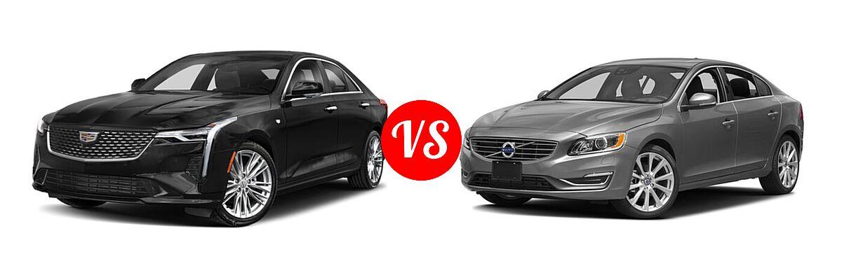 2021 Cadillac CT4 Sedan Luxury / Premium Luxury / Sport / V-Series vs. 2018 Volvo S60 Sedan Inscription / Inscription Platinum - Front Left Comparison