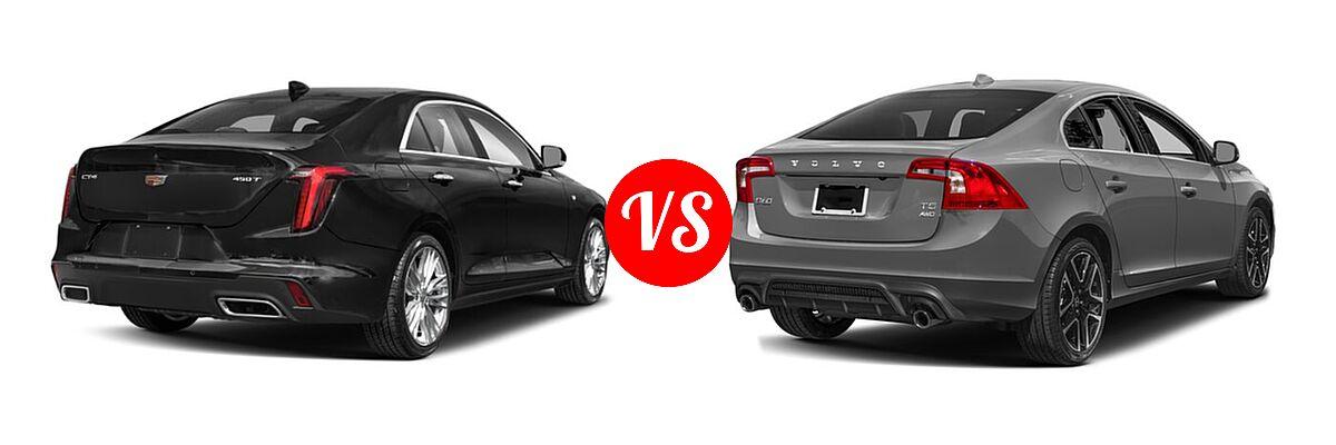 2021 Cadillac CT4 Sedan Luxury / Premium Luxury / Sport / V-Series vs. 2018 Volvo S60 Sedan Dynamic - Rear Right Comparison