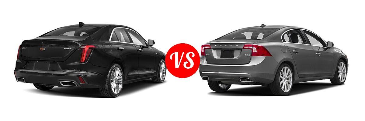 2021 Cadillac CT4 Sedan Luxury / Premium Luxury / Sport / V-Series vs. 2018 Volvo S60 Sedan Inscription / Inscription Platinum - Rear Right Comparison