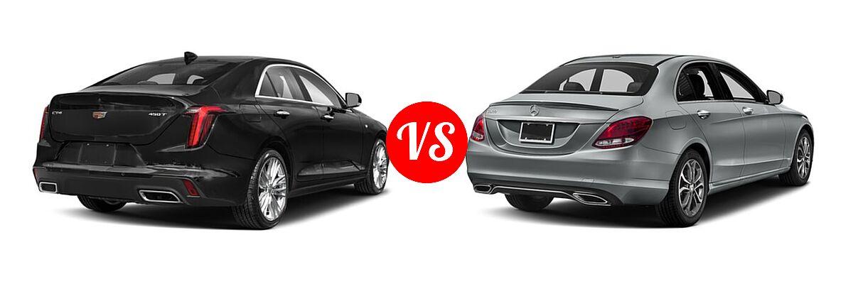 2021 Cadillac CT4 Sedan Luxury / Premium Luxury / Sport / V-Series vs. 2018 Mercedes-Benz C-Class Sedan C 300 - Rear Right Comparison