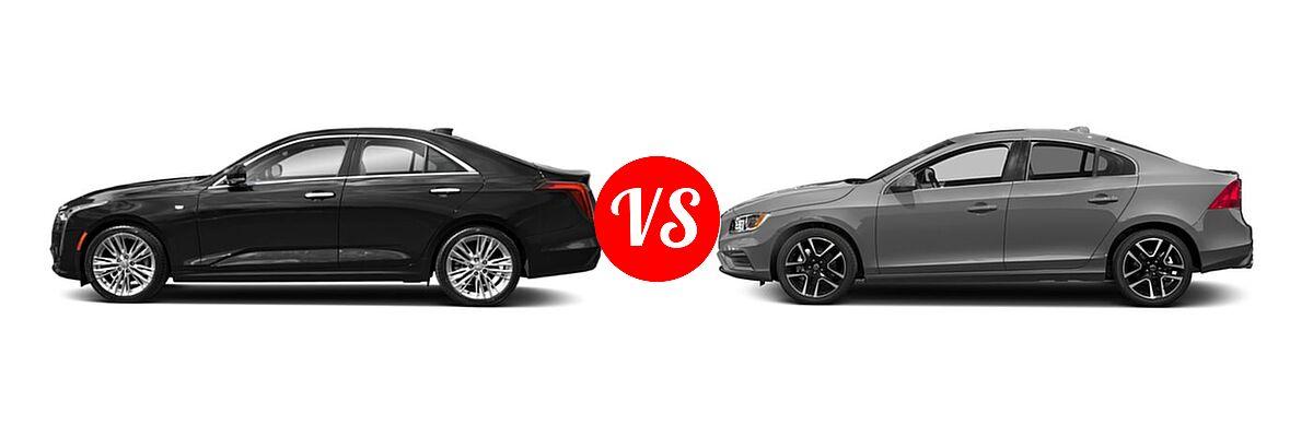 2021 Cadillac CT4 Sedan Luxury / Sport / V-Series vs. 2018 Volvo S60 Sedan Dynamic - Side Comparison