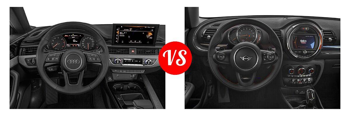 2021 Audi A5 Hatchback S line Premium vs. 2021 MINI Clubman John Cooper Works Hatchback John Cooper Works - Dashboard Comparison