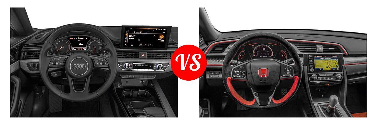 2021 Audi A5 Hatchback S line Premium vs. 2021 Honda Civic Type R Hatchback Touring - Dashboard Comparison