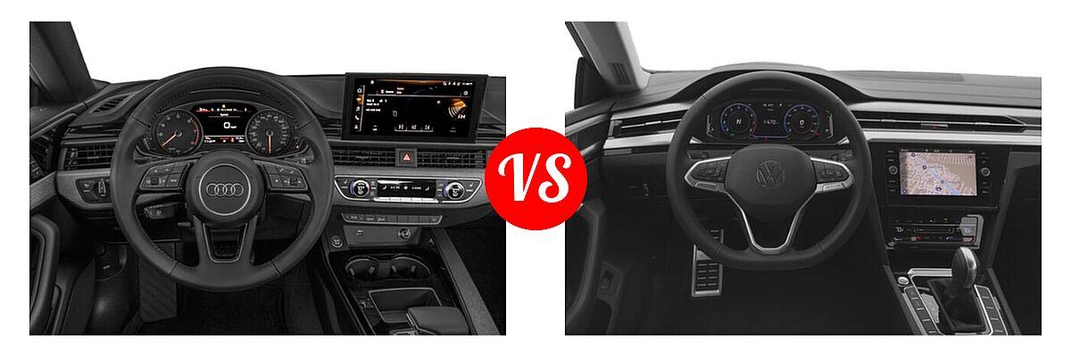 2021 Audi A5 Hatchback S line Premium vs. 2021 Volkswagen Arteon Hatchback SE - Dashboard Comparison