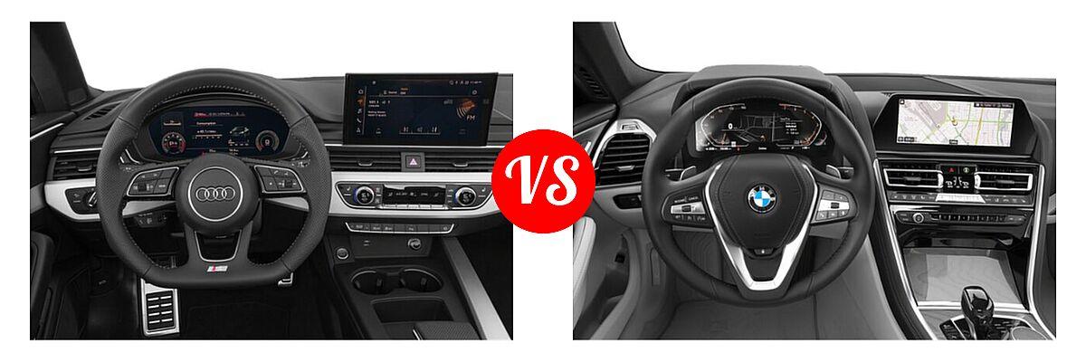 2021 Audi A5 Convertible Prestige vs. 2021 BMW 8 Series Convertible 840i - Dashboard Comparison