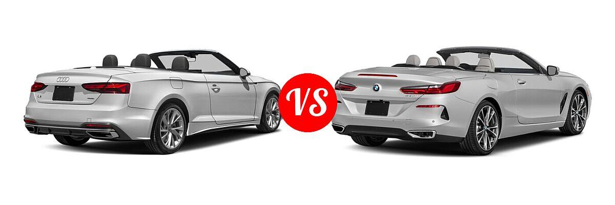 2021 Audi A5 Convertible Prestige vs. 2021 BMW 8 Series Convertible 840i - Rear Right Comparison