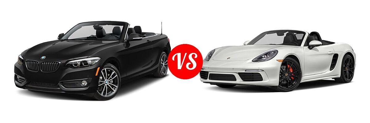2021 BMW 2 Series Convertible 230i xDrive vs. 2021 Porsche 718 Boxster Convertible S - Front Left Comparison