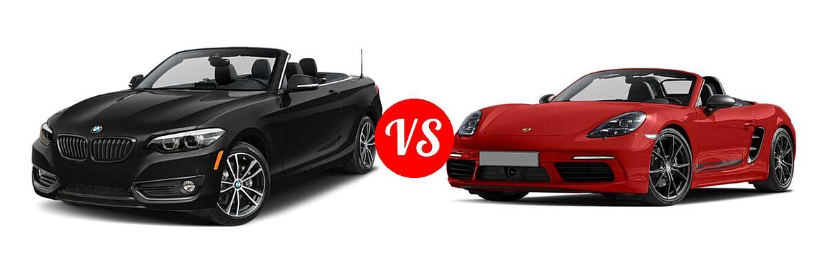 2021 BMW 2 Series Convertible 230i xDrive vs. 2021 Porsche 718 Boxster Convertible T - Front Left Comparison