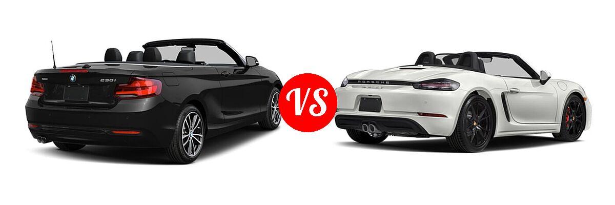 2021 BMW 2 Series Convertible 230i xDrive vs. 2021 Porsche 718 Boxster Convertible S - Rear Right Comparison