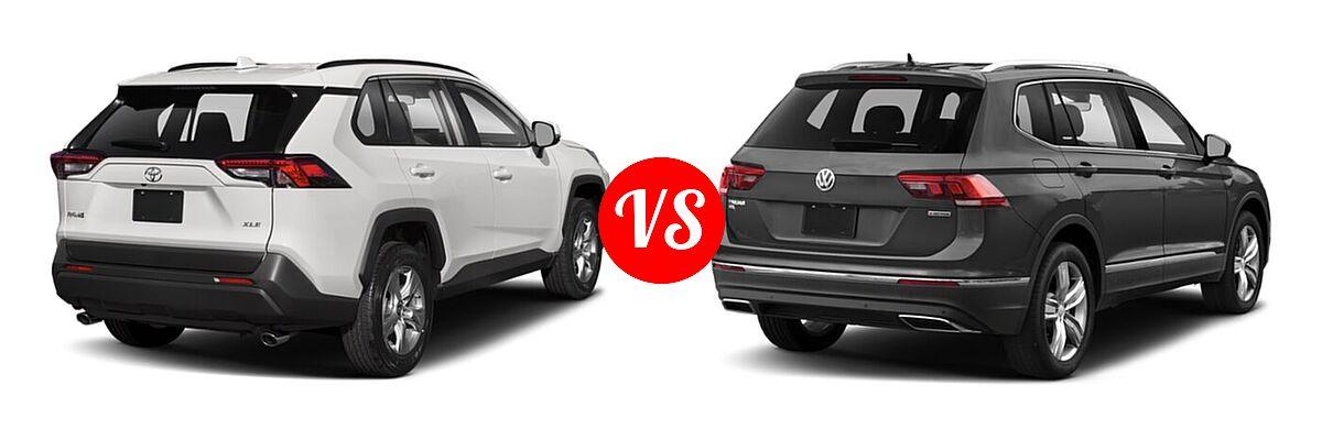 2021 Toyota RAV4 vs. 2021 Volkswagen Tiguan | Vehie.com