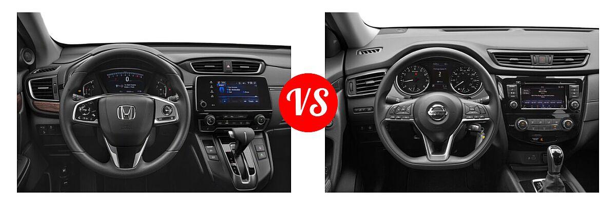 2020 Honda CR-V SUV EX vs. 2020 Nissan Rogue SUV S / SV - Dashboard Comparison