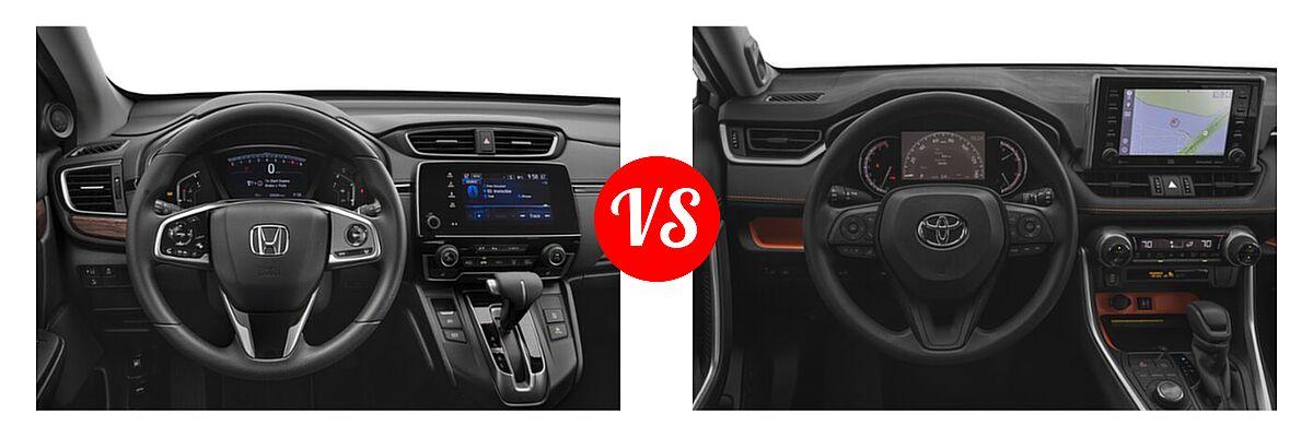 2020 Honda CR-V SUV EX vs. 2020 Toyota RAV4 SUV Adventure - Dashboard Comparison