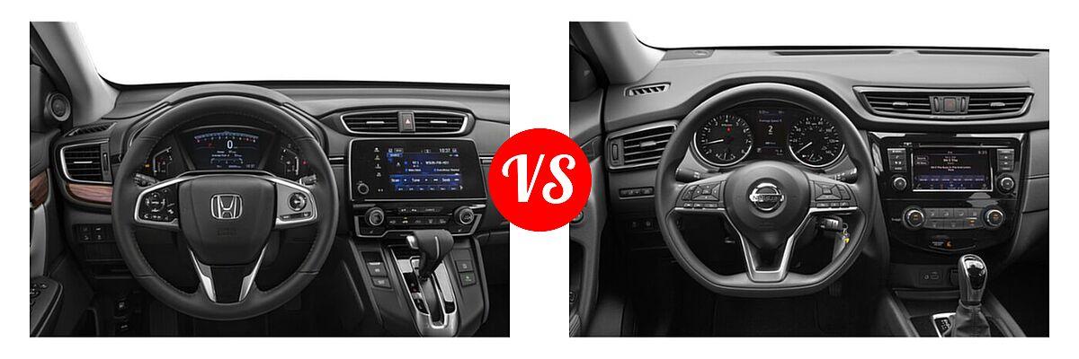 2020 Honda CR-V SUV EX-L vs. 2020 Nissan Rogue SUV S / SV - Dashboard Comparison