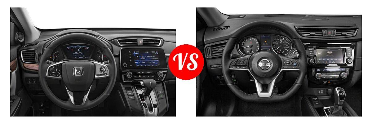 2020 Honda CR-V SUV EX-L vs. 2020 Nissan Rogue SUV SL - Dashboard Comparison